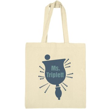 Ms. Triplett The Teacher Liberty Bags Canvas Bargain Tote Bag