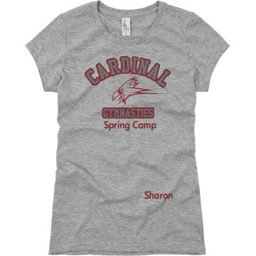 Cardinal Gymnastics Junior Fit Basic Bella Favorite Tee