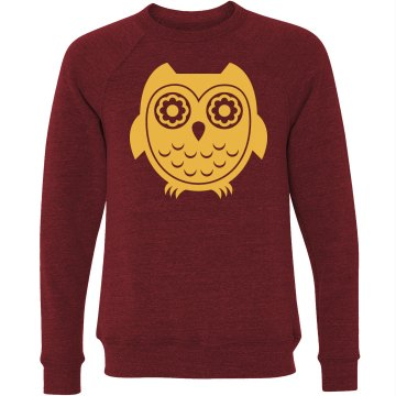 Owl Graphic Sweatshirt Unisex Canvas Triblend Crew