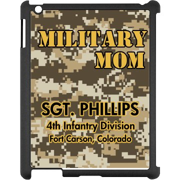 Army Mom Camo Case Black iPad Snap-on Case