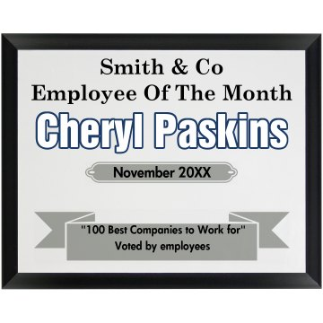 Employee Plaque Wood Plaque