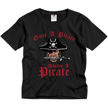 Once a Pirate T-Shirt Youth Gildan Ultra Cotton Crew Neck Tee