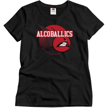 Alcoballics Kickball Misses Relaxed Fit Gildan Ultra Cotton Tee