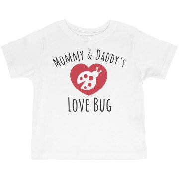 Love Bug Toddler Gildan Ultra Cotton Crew Neck Tee