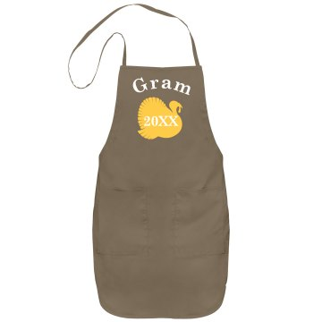Gram's Turkey Apron Port Authority Adjustable Full Length Apron