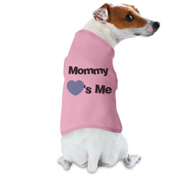 Mommy Loves Me Dog Tee Doggie Skins Dog Ringer Tee