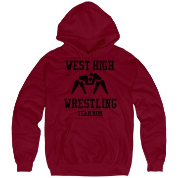 Wrestling Team Mom Unisex Gildan Heavy Blend Hoodie