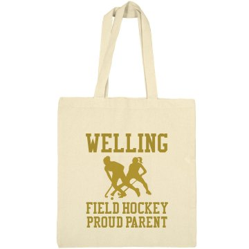 Proud Field Hockey Parent Port Authority Color Canvas Tote