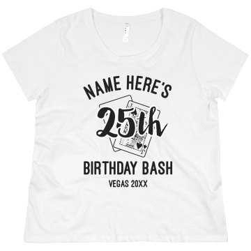 Birthday Bash In Vegas Junior Fit Basic Bella Favorite Tee