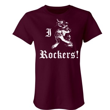 I Love Rockers Junior Fit Bella Sheer Longer Length Rib Tee