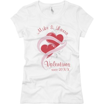 Valentine Sweethearts Junior Fit Basic Bella Favorite Tee