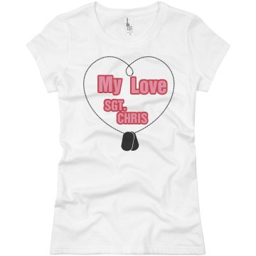 My Love Junior Fit Basic Bella Favorite Tee