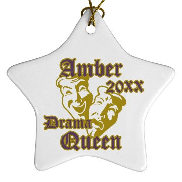 Drama Queen Ornament Porcelain Star Ornament