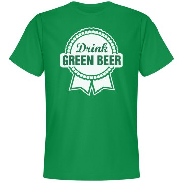 Green Pabst Beer Unisex Gildan Heavy Cotton Crew Neck Tee