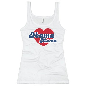 Obama Mama-stars Junior Fit Bella Sheer Longer Length Rib V-Neck Tee