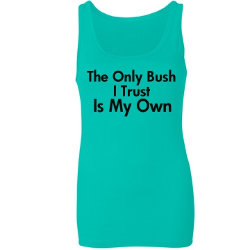 The Only Bush I Trust Junior Fit Bella Sheer Longer Length Rib Tank Top