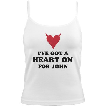 A Heart On for John Bella Junior Fit Contrast Satin Trim Cami