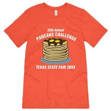 Pancake Challenge Fair Unisex Canvas Jersey Tee