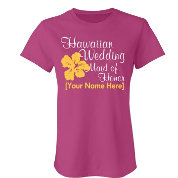 Hawaiian Wedding Flower Misses Relaxed Fit Anvil Heavyweight Tank Top