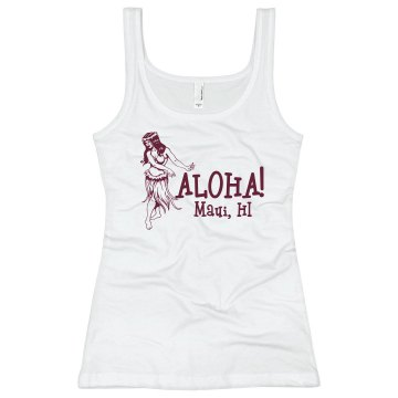 Aloha Maui Misses Relaxed Fit Anvil Heavyweight Tank Top