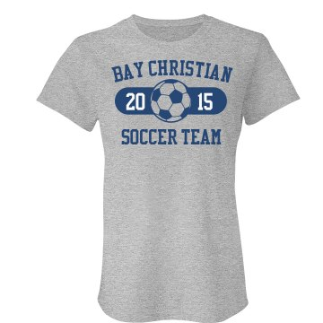 Bay Christian Soccer Misses Relaxed Fit Anvil Heavyweight Tank Top