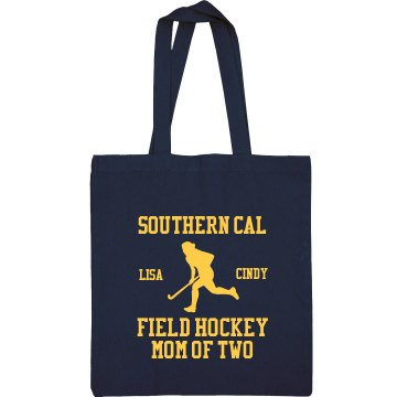 Field Hockey Mom Port Authority Color Canvas Tote