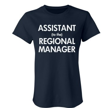 Regional Manager Junior Fit Bella Crewneck Jersey Tee
