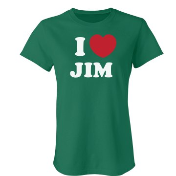 I Love Jim Junior Fit Bella Crewneck Jersey Tee