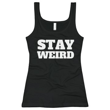 Stay Weird Junior Fit Bella Sheer Longer Length Rib Tank Top
