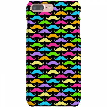 Colorful Mustaches Plastic iPhone 5 Case Black