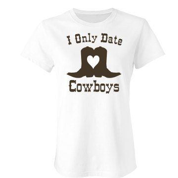 Cowboys Rhinestone Tee Junior Fit Bella Crewneck Jersey Tee