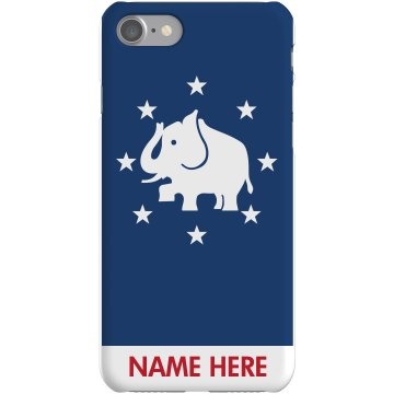 Elephant iPhone Case Plastic iPhone 5 Case White 
