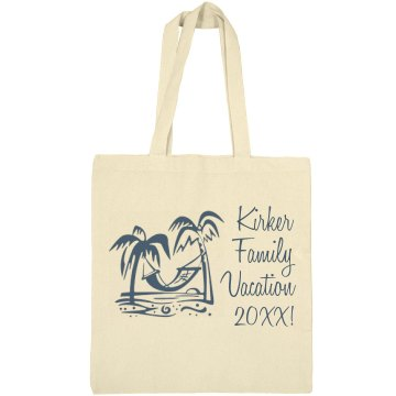 Kirker Beach Vacation Liberty Bags Canvas Bargain Tote Bag