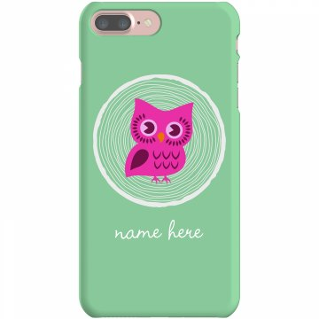 Blue Owl iPhone Case Plastic iPhone 5 Case White