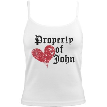 Property Of John Distress Bella Junior Fit Contrast Satin Trim Cami