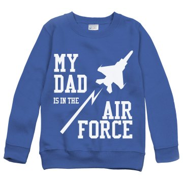 My Air Force Dad Youth Gildan Heavy Blend Sweatshirt