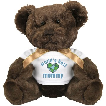 World's Best Mom Medium Plush Teddy Bear
