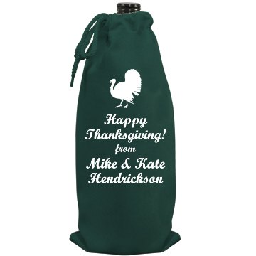 Thanksgiving Hostess Gift Port Authority Wine Bag