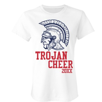 Trojan Cheer  Junior Fit Bella Crewneck Jersey Tee