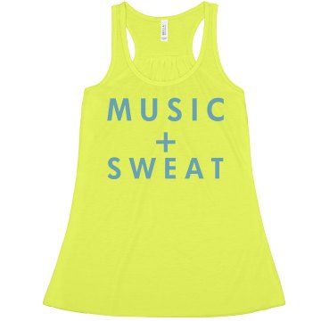 Music + Sweat Misses American Apparel Neon Oversized Crop Tank