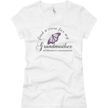 Alzheimer's Butterfly Tee Junior Fit Basic Bella Favorite Tee