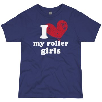 Love My Roller Girls Youth Bella Girl 1x1 Rib Tank Top