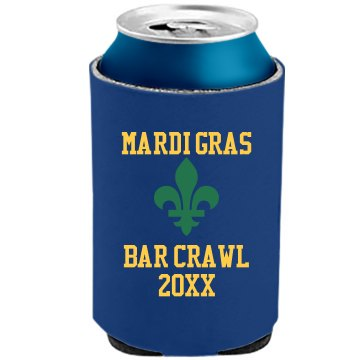 Mardi Gras Beer Cooler The Official KOOZIE Can Kooler