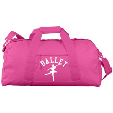 Ballet Duffle Bag Port & Company Large Square Duffel Bag