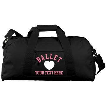 Ballet Heart Duffle Port & Company Large Square Duffel Bag