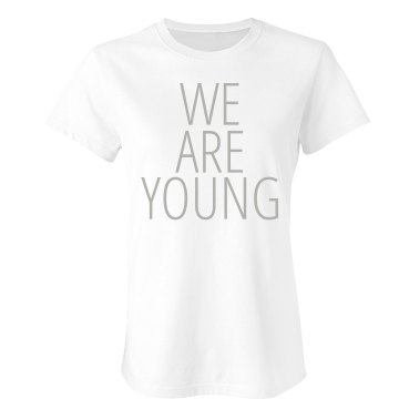 We Are Young Tee Junior Fit Bella Double V Sheer Jersey Tee
