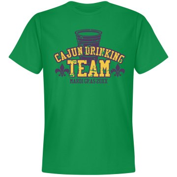 Cajun Drinking Team Unisex Gildan Heavy Cotton Crew Neck Tee