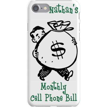Nathan's Cell Bill Cover Plastic iPhone 5 Case Black