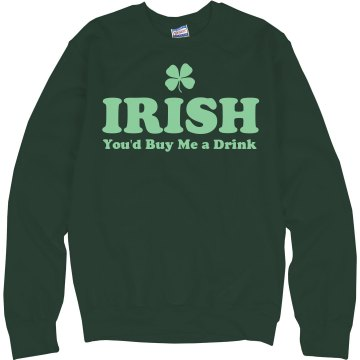 Irish You'd Buy Me... Junior Fit Bella 1x1 Rib Ringer Tee