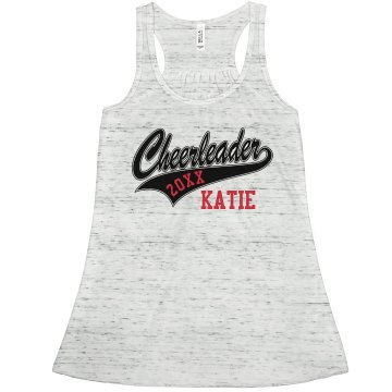 Cheerleader Tank Junior Fit Basic Bella 2x1 Rib Tank Top